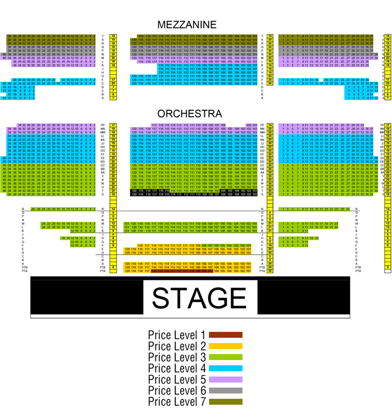 The fillmore miami beach seating chart theatre in miami