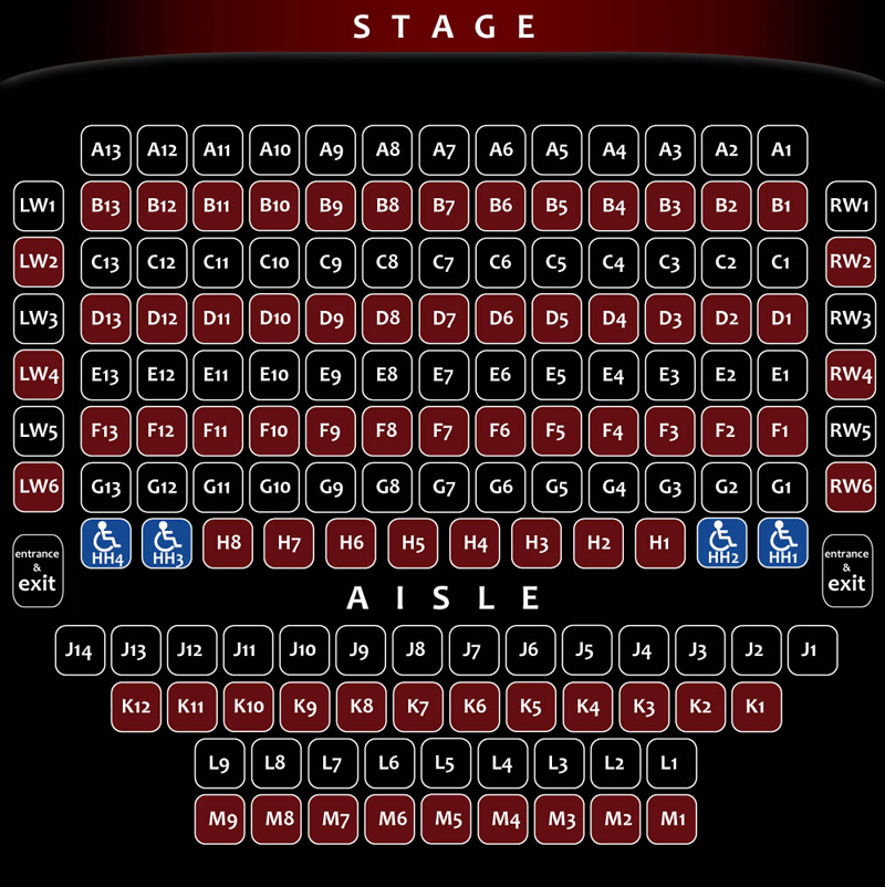 Willow Theatre Seating Chart